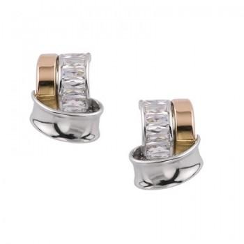 Pendientes de Plata/Oro 2/10 con circonitas - Regalanda