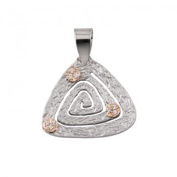 Colgante de Plata/Oro 1/10 en forma de triángulo - Regalanda