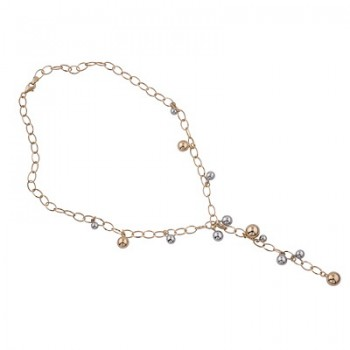 Collar de Plata/Oro 1,5/10 con cadena de bolas - Regalanda