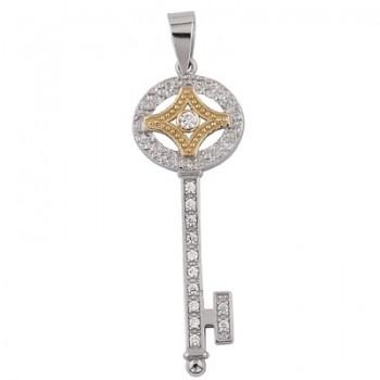 Colgante llave de Plata/Oro 1/10 - Regalanda