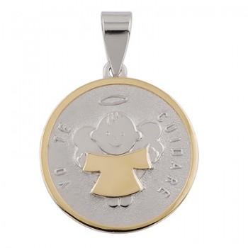 Colgante de Plata/Oro 0.5/10 con ángel de la guarda - Regalanda