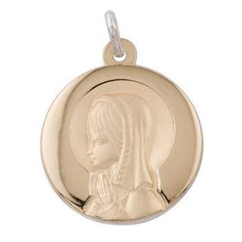 Medalla de Virgen Niña 1/10 de Plata/Oro - Regalanda