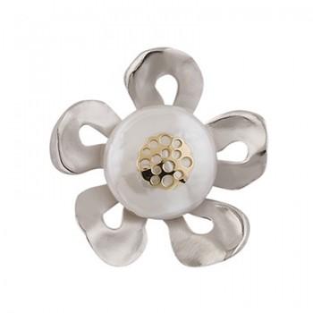 Colgante de Plata/Oro 0.5/1 con perla barroca - Regalanda