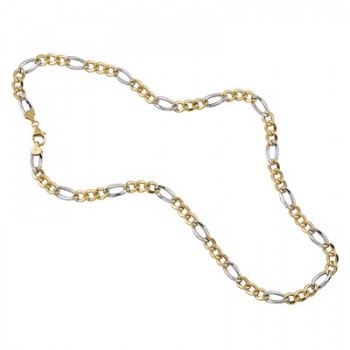 Cadena de Plata/Oro 1/10 con eslabones 3X1, 60cm - Regalanda