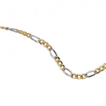 Cadena de Plata/Oro 1/10 con eslabones 3X1, 50cm - Regalanda
