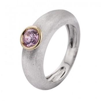 Sortija de Plata/Oro 0,5/10 con piedra rosa - Regalanda