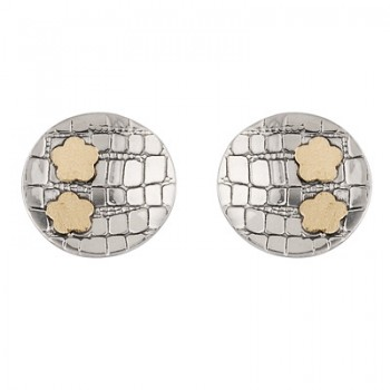 Pendientes de disco en Plata/Oro 0,5/10 - Regalanda