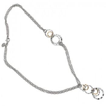 Collar de Plata/Oro 0,5/10 con aros enlazados - Regalanda
