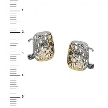 Pendientes de Plata/Oro 1/10 cuadrados - Regalanda