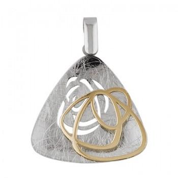 Colgante triangular de Oro/Plata 1.5/10 - Regalanda