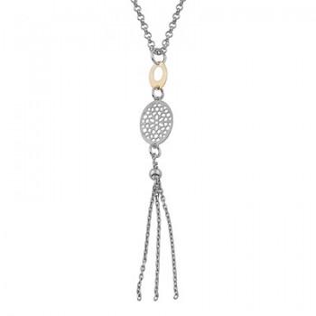 Collar de Plata/Oro 0,5/10 con ovalos y flecos - Regalanda