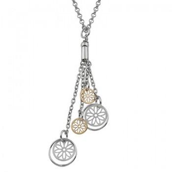 Collar de Plata/Oro 0,5/10 con circulos - Regalanda