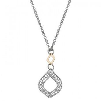Collar de Plata/Oro 0,5/10 con rombos - Regalanda