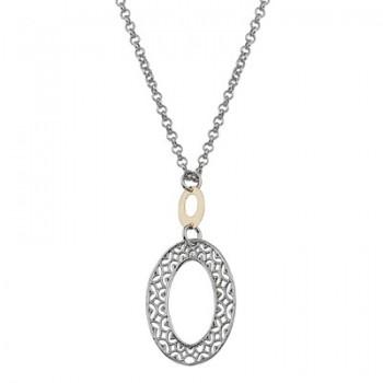 Collar de Plata/Oro 0,5/10 con ovalos - Regalanda