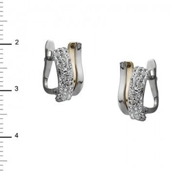 Pendientes de Plata/Oro 2/10 con tiras en onda - Regalanda
