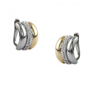 Pendientes de Plata/Oro 3/10 con bandas verticales - Regalanda