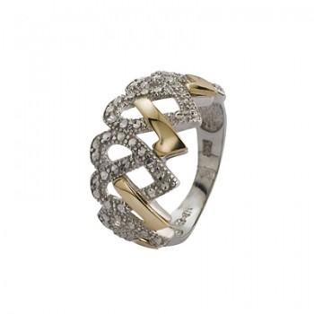 Sortija de Plata/Oro 1,5/10 con corazones tallados - Regalanda