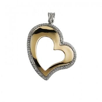 Colgante de Plata/Oro 0.5/10 corazón - Regalanda