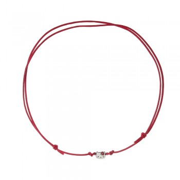 COLLAR CORDON PRETTY KITTY ROJO - Regalanda