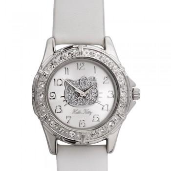 Reloj de HELLO KITTY estilo juvenil con pulsera de polipiel blanca, maquinariaMIYOTA. - Regalanda