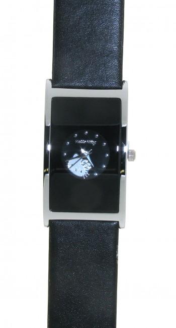 Reloj de HELLO KITTY para señora con pulsera de polipiel negra. Esfera en negro. - Regalanda