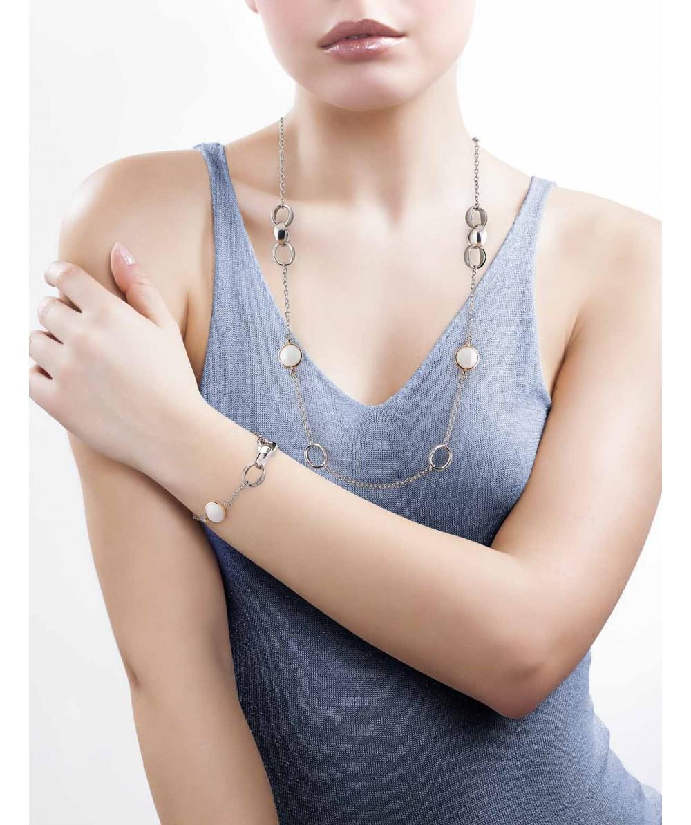 Collar de Plata/Oro 1,5/10 con agata natural - Regalanda