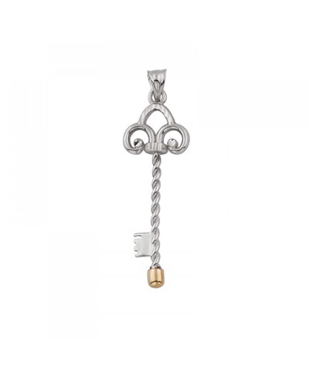 Colgante de llave de Plata/Oro 2/10 - Regalanda