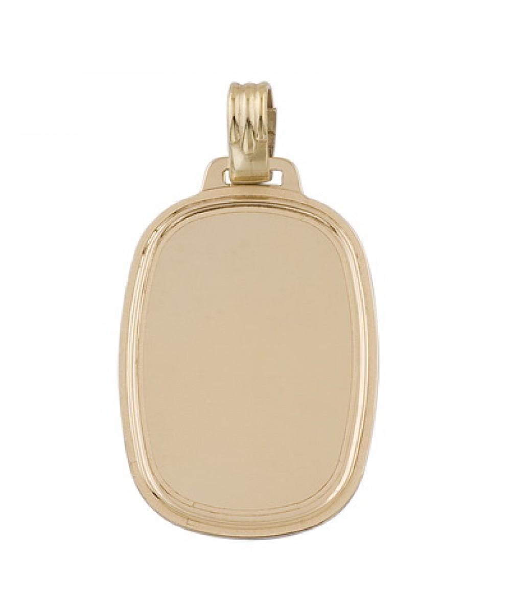 Colgante de placa ovalada de Plata/Oro 1/10 - Regalanda