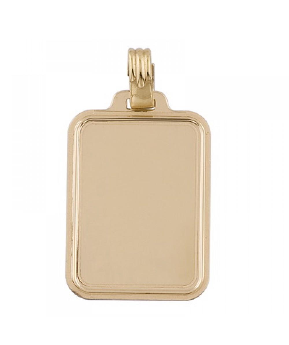 Colgante de placa rectangular de Plata/Oro 1/10 - Regalanda