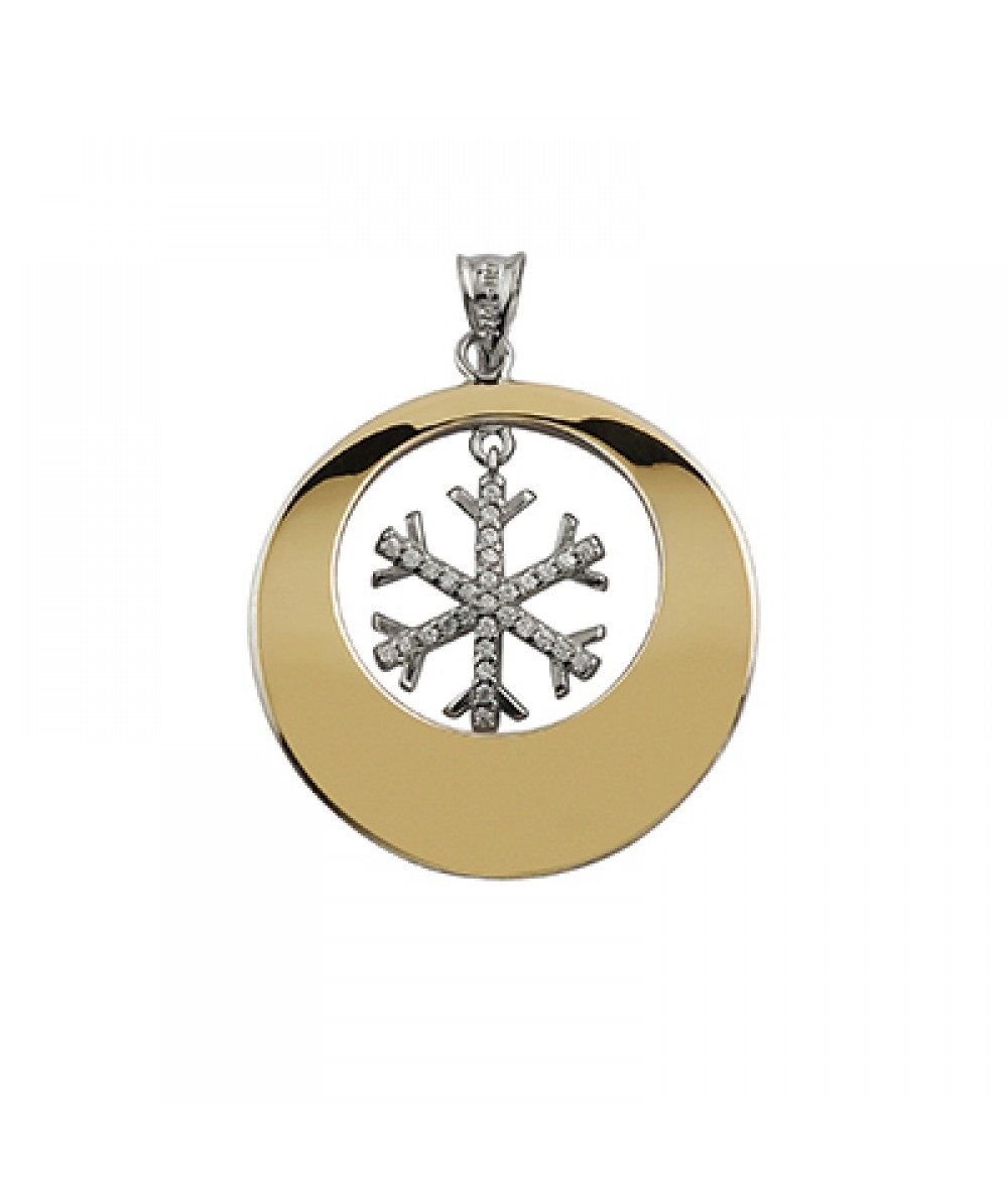 Colgante de Plata/Oro 1/10 con estrella invernal - Regalanda