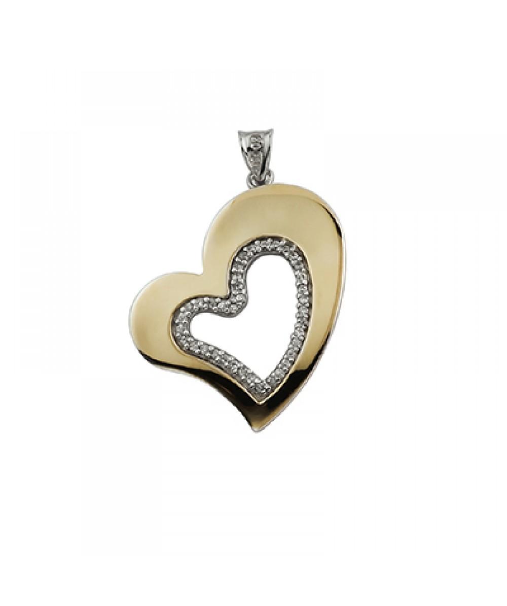 Colgante de Plata/Oro 1/10 corazón - Regalanda