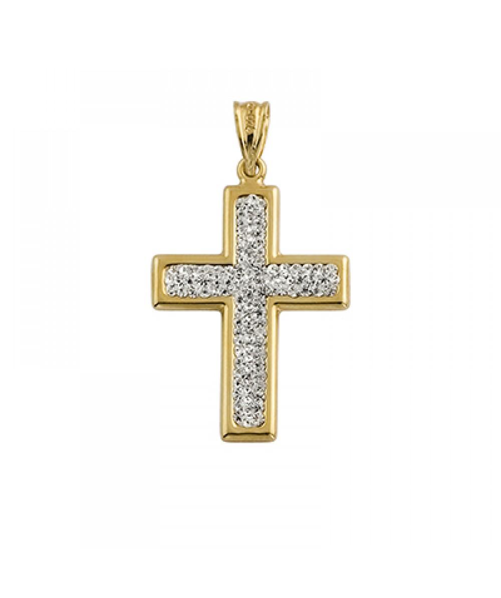 Cruz de Plata/Oro 1.5/10 con circonitas - Regalanda