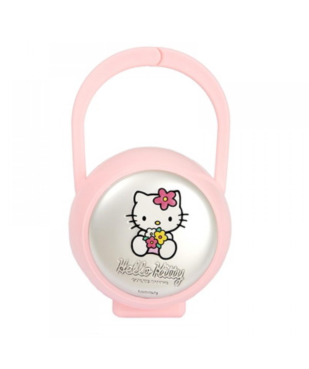 Porta chupete Hello Kitty de plástico rosa - Regalanda