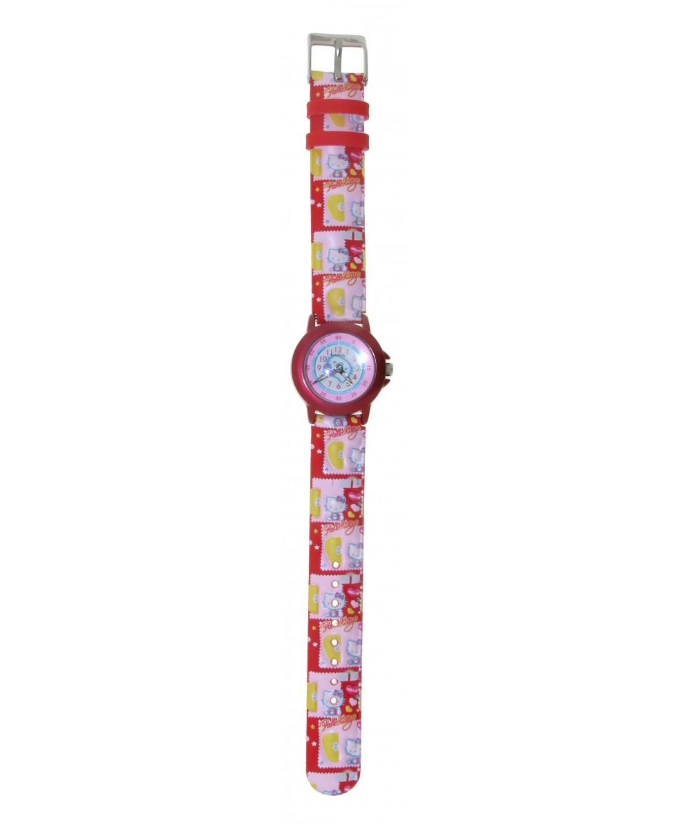 Reloj de HELLO KITTY estilo infantil con pulsera de caucho con motivos de Hello Kitty. - Regalanda
