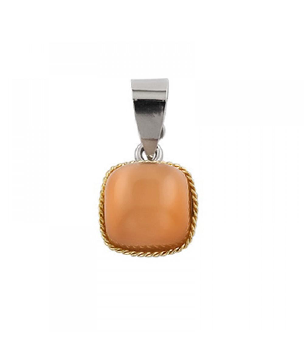 Colgante de Plata/Oro 1.5/10 con cabujon 10X10 mm - Regalanda