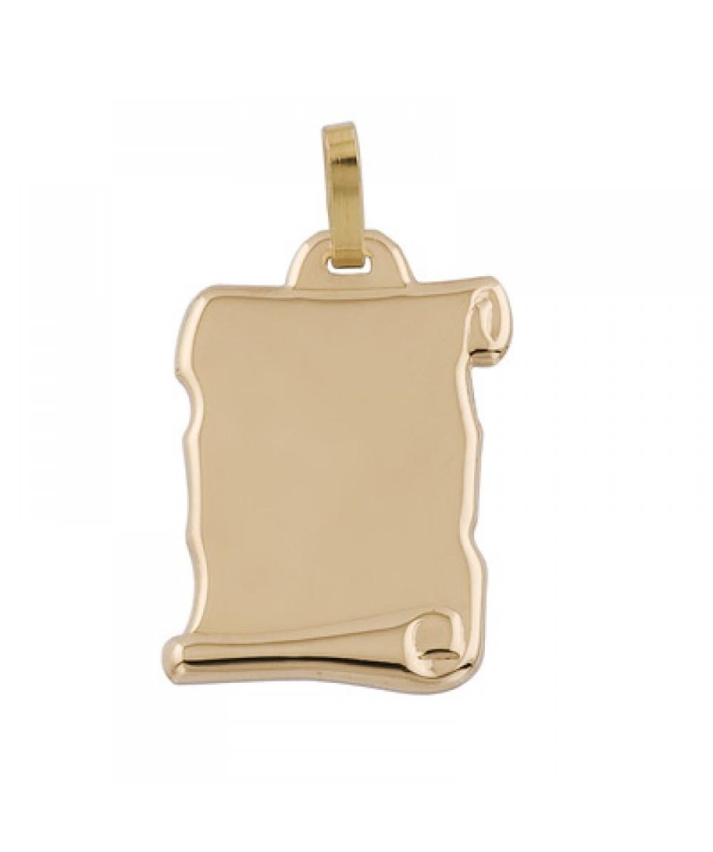 Colgante pergamino de 1/10 Plata/Oro - Regalanda