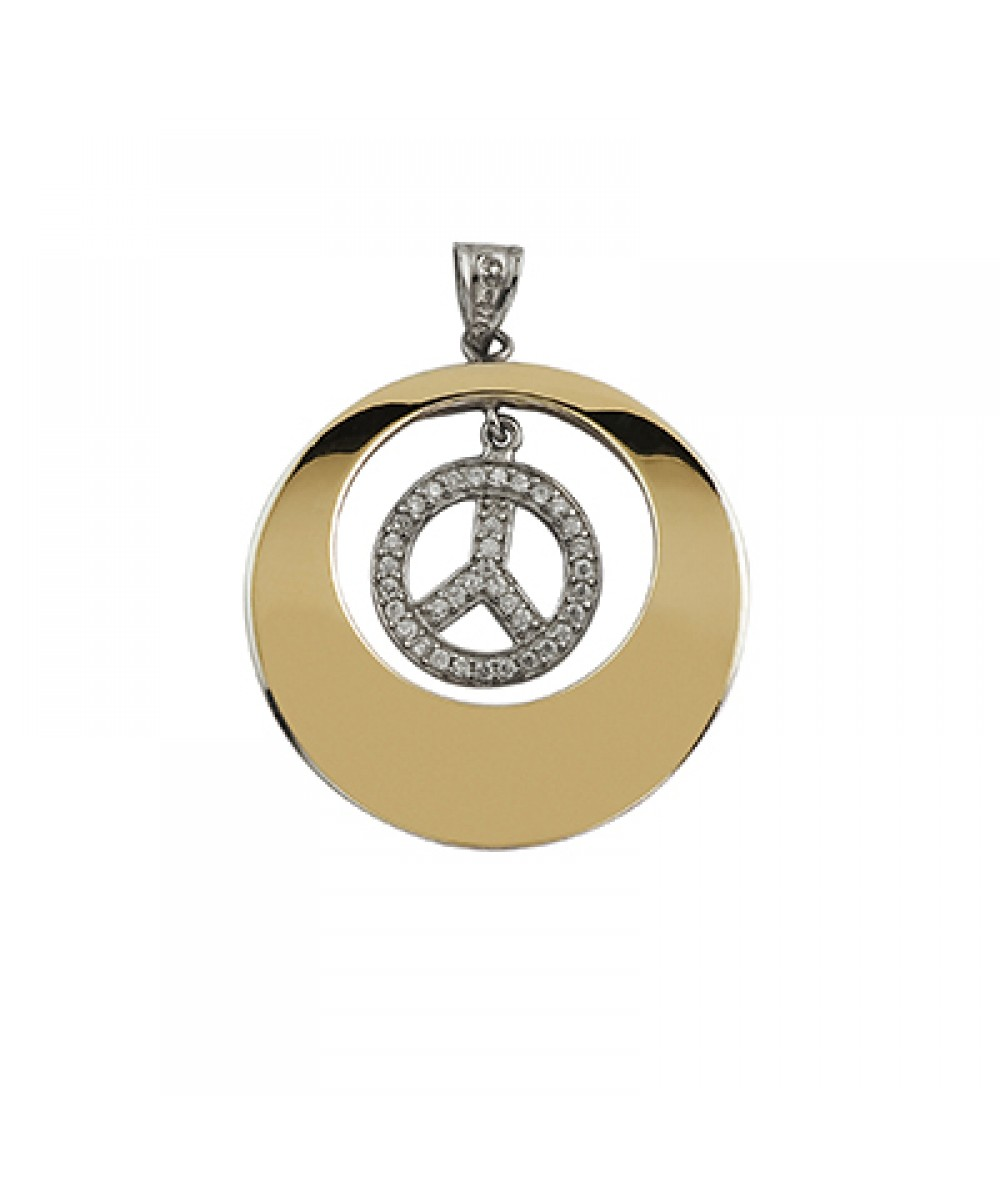 Colgante de Plata/Oro 1/10 con símbolo libertad - Regalanda