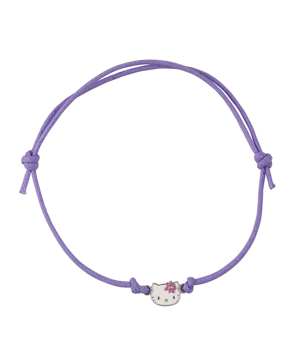 PULSERA CORDON PRETTY KITTY VIOLETA - Regalanda