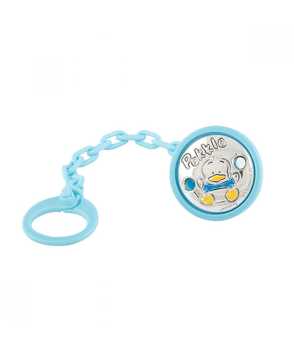 Porta chupete pato Pekkle de plástico azul - Regalanda